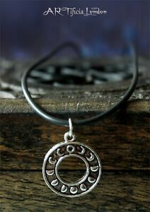 Silver Moon Phases Pendant & Necklace   Hypoallergenic Goddess Jewellery Gift