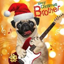 Brother Pug Dog Googlies Christmas Card Tracks Wobbly Eyes Greeting Cards
