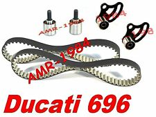 CINGHIE DISTRIBUZIONE + 4 TENDITORI  DUCATI Monster 696 dal 2008  HIGH TENACITY