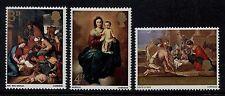 GB MNH STAMP SET 1967 Christmas Paintings SG 756-758 UMM