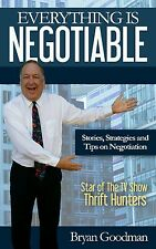 Everything is Negotiable book SIGNED & INSCRIBED by Bryan Goodman Thrift Hunters