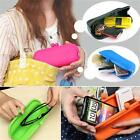 Multi-use Silicone Cosmetic Pouch Glasses Case Cellphone Purse Wallet Coin Bag