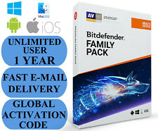 Bitdefender Family Pack UNLIMITED USER 1 YEAR + FREE VPN GLOBAL CODE 2020