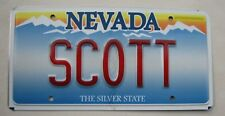 "NEVADA VANITY LICENSE PLATE "" SCOTT "" SCOT SCOTTISH SCOTLAND GLASGOW SCOTT'S"