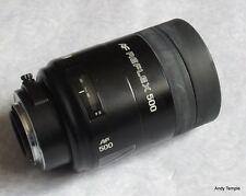 Minolta Sony 500mm f8 Lente AF con Alpha Hongo