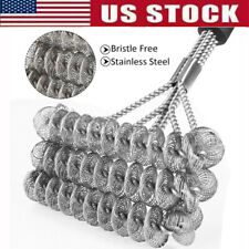 18 inch Grill Stainless Steel Cleaner Wire Bristle Barbecue Scraper BBQ Brush