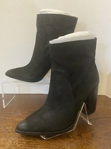 Vince Camuto Leather Perforated Ankle Boots - Catheryna - Black - Size 8M