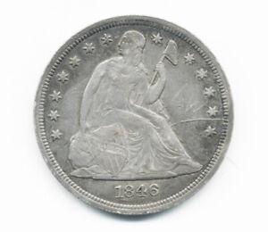 1846 US SEATED LIBERTY SILVER DOLLAR