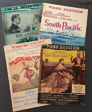 4 Song Books/Sheet Music, 1949-1959 Rogers & Hammerstein The Sound Music