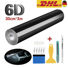 6D Carbon Folie Blasenfrei Autofolie Glanz Matt Schwarz KFZ Klebe Folie 30x300cm