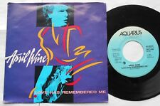 APRIL WINE Love has Remembered Me NM- CANADA ONLY!! 1985 PS Aquarius 45 7""