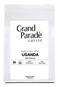 Organic Uganda Medium Roast Ground Coffee, Fresh Roasted Daily, 1 Lb Bag