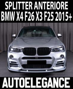 BMW X3 F25 X4 F26 2015+ SPLITTER SPOILER ANTERIORE SOTTO PARAURTI LAMA