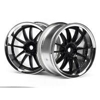 HPI 3286 Work Xsa Wheels 26mm chrome/black 3mm Offset (2)