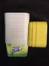 New listing Plastic Margarine Containers with Lid storage craft kid butter prepper Used