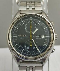 SEIKO 6138-3000 Jumbo  Rare Automatic Chronograph Top Condition 70s Japan Vtg