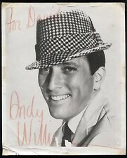 Andy Williams VINTAGE Signed 8x10 Photo Autographed Early Career 1960's