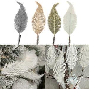 1/6pcs Christmas Tree Decoration Clip On Glittery Baubles Ornament  Xmas&&