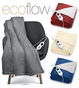 2022 Electric heated throw over blanket super soft fleece available in 4 colours