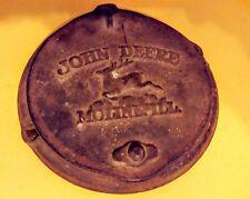Antique Cast Iron John Deere Horse Drawn Corn Planter Seed Box Lid 2 pt Original