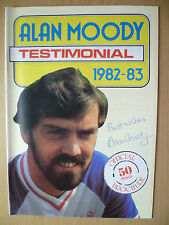 Alan Moody Testimonial Programme:Southend United 1982+ SIGNED by ALAN MOODY(ORG)