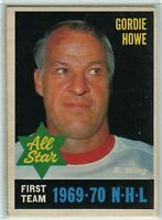 1970-71 O-Pee-Chee #238 Gordie Howe AS1 EX-NM - SET BREAK (112919-23)
