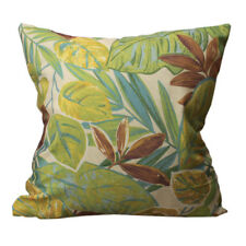 CURCYA Green Leaves Cushion Covers Japanese Banana Leaf Printed Pillow Cases