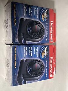 2 Pack Honeywell HTF090B USB/Battery Powered Turbo on the Go Personal Fan, Black
