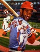 Ozzie Smith St Louis Cardinals MLB Baseball Busch Stadium Art 03 8x10 - 48x36