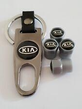 KIA Plastic Valve DUST CAPS Keyring Keychain Spanner all Models Grey Sorento Rio