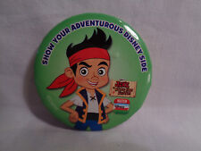 "Disney Jake Neverland Pirates ""Show Your Adventurous Disney Side"" Pin Badge"