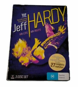 Jeff Hardy My Life My Rules WWE Wrestling DVD Region 4 (3 DVD  Disc Set)