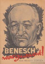 Benesch war gewarnt!: Jaksch, Wenzel