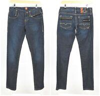 Womens HUGO BOSS Orange Skinny Jeans Low Rise Blue Cotton Size W27 / L34