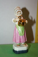 "Royal Worcester Porcelain Figurine ""Polly Put The Kettle On"" 3303 England  AS IS"