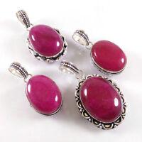 Ruby Wholesale Lot Silver Plated 10Pcs Pendant Gemstone Jewelry
