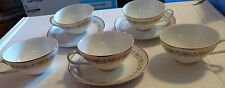 Lot of 3 Sheffield Imperial Gold Fine China Cups and Saucer Sets & 2 Extra Cups