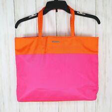 Clinique Tote Bag Orange Pink Womens Beach Travel Gym Bag Handbag