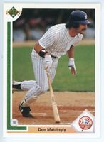1991 UPPER DECK #354 - DON MATTINGLY - NEW YORK YANKEES - FREE SHIPPING