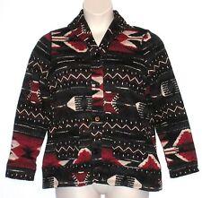 NWT $129 - LRL LAUREN JEANS CO, Cardigan-Style Jacket, Size 1X, Black Multicolor