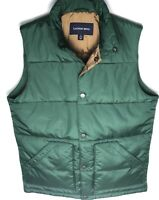 Lands' End Men's Green Polyester Fill Puffer Winter Vest Size S