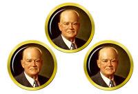 President Herbert Hoover Marqueurs de Balles de Golf