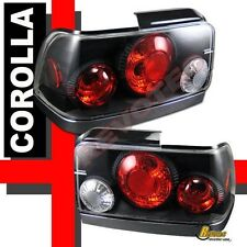93-97 Toyota Corolla Black Tail Lights Lamps 1 Pair