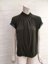 PINKO Backless Khaki Amazing Top Size M Medium