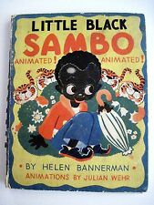 """Vintage Children's Book Animated """"Little Black Sambo"""" 1943 w/ Adorable Pictures*"""