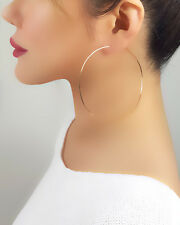 18K Gold Plated Large Hoop Earrings New Womens Jewelry