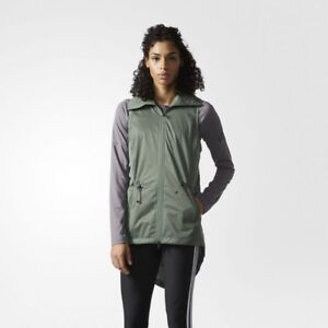 NWT ADIDAS ClimaStorm Vest Full Zip Stand collar Lightweight Jacket S/M 3 colors