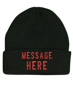 Custom Made Personalized Beanie Hat Embroidery Name or Message