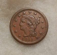 1851 Braided Hair Large Cent - Better Date - Very Nice Looking Coin