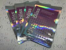 Bliss the Detoxifier Charcoal Powder Holographic Foil Sheet Mask Lot of 4
